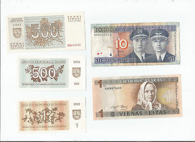 Lithuania  Five  Notes