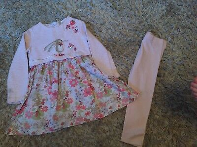 Girls Next Long Sleeved Tunic And Legging Outfit Set 5-6 Years