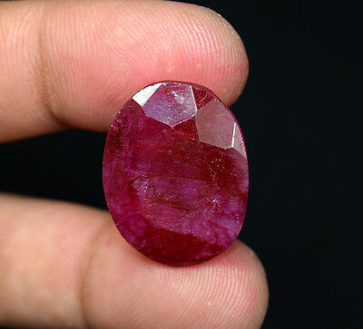 27.40 Cts. Natural African Ruby Oval Cut Loose Gemstones For Pendant