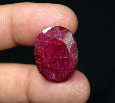 24.40 Cts. Natural African Ruby Oval Cut Loose Gemstones For Ring