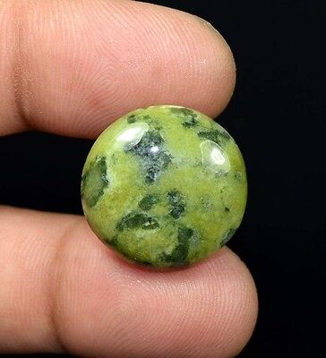 21.60 Cts. 100 % Natural  Canadian Jade Round Cabochon Untreated Loose Gemstones