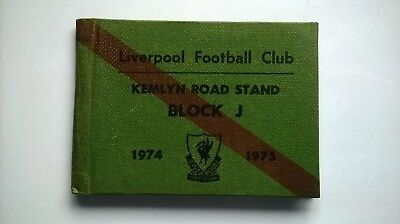 Liverpool F C     Season Ticket Book  1974-1975