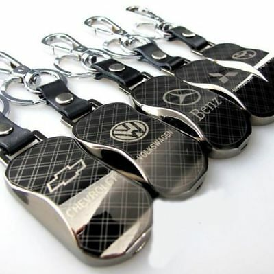 1/5/10x Auto Part Titanium Alloy Car Logos Keyrings Metal Keychain Keyfob Holder