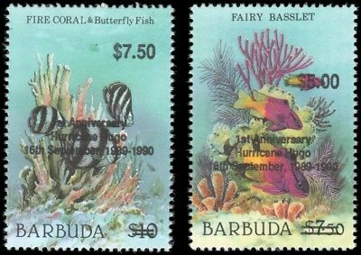Barbuda #1133-1134 set MNH