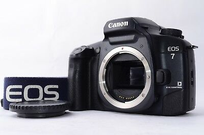 *Mint* Canon EOS-7 35mm SLR Film Camera w/ Genuine Strap,Body cap From japan#884