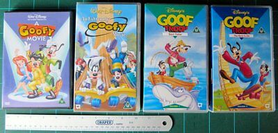 DVD Reg 2 - VHS PAL tapes - Disney Goofy and Max Complete Collection - Pristine