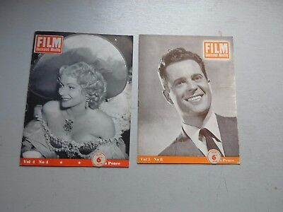 FILM ILLUSTRATED MONTHLY 8 ISSUES  LATE 1940,s
