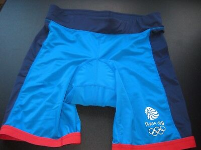 NEW Ladies Blue Padded TEAM GB GREAT BRITAIN CYCLING Shorts plus size UK 16 - 18