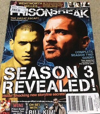 Prison Break 2007 Official Yearbook - Wentworth Miller, Dominic Purcell + More