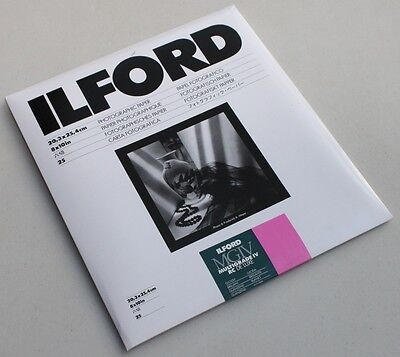 "ILFORD  MGIV 8x10"" GLOSSY 25PKT BLACK AND WHITE DARKROOM PAPER"