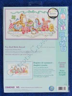 Cross Stitch Kit Toy Shelf Baby Birth Record Sampler Announcement Stuffed Animal