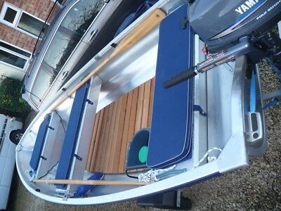 Linder 440  Aluminium  Fishing Dinghy/Boat, Engine,Trailer Package Never Used