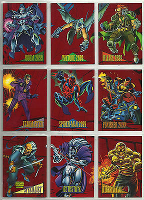 Marvel Universe IV 2099 Red Foil Trading Card Set