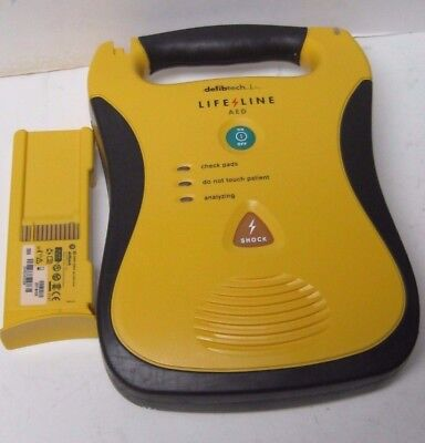 Defibtech Life Line Aed Ddu 100A  With Dbp-2800 Battery Pack Barely If Ever Used