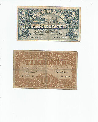 Denmark  Two  Notes  1940's