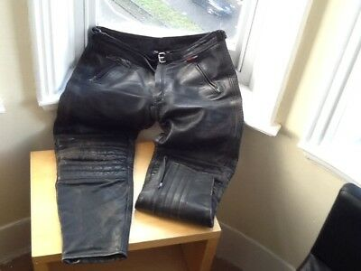 motorcycle leather trousers 38