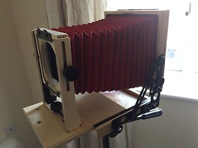 First generation Intrepid 4x5 large format camera with spare base/ focus board