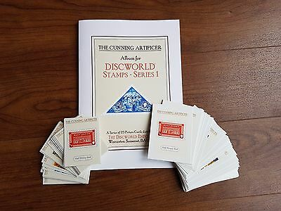 Discworld Stamps Trading Card set of 25 large+25 small w/Album Pratchett Pearson