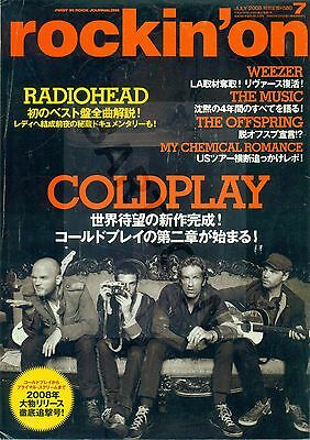 Coldplay / Chris Martin - Clippings From Japanese Magazine Rockin'on July 2008