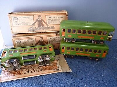 Lionel 0 Gauge . 3 Rail Electric. Vintage Pullman Cars. Boxed. Lighting.