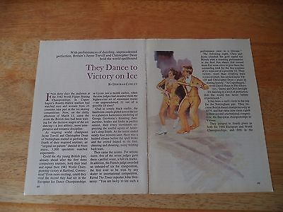 TORVILL AND DEAN  VINTAGE MAGAZINE ARTICLE    8  2     n    o