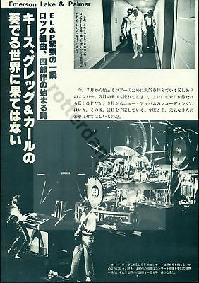 Emerson, Lake And Palmer - Clippings From Japan Magazines Music Life Rockin'on