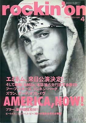 Eminem - Clippings From Japanese Magazine Rockin'on April 2003