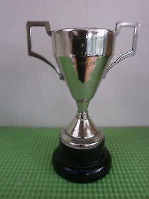 "Vintage Art Deco Silver Plated 5"" Trophy, 1934, Engraved"
