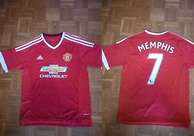Maglia Calcio Manchester United Mephis Depay L Soccer Shirt Jersey