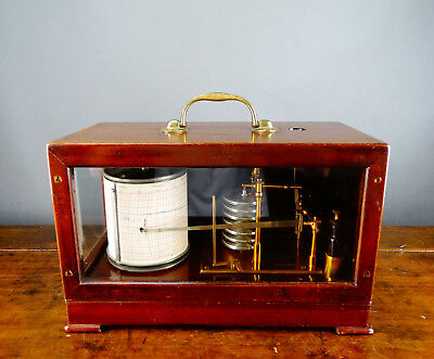 Barograph & Recorder Aneroid Barometer by Casella London with Gluck Movement