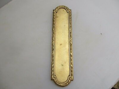 Antique Brass Finger Plate Push Door Handle Vintage Adam Style Georgian Husks