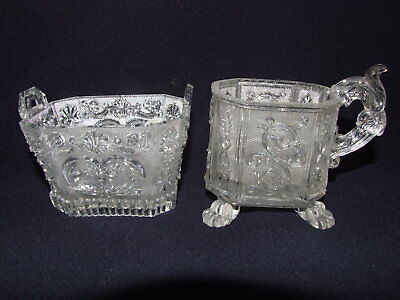 Antique French Baccarat & St Louis Lacy Glass c1840's