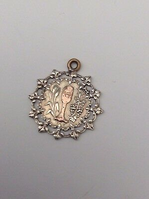 Silver Unusual Pendant With Gold