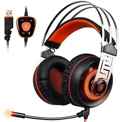Sades A7 7.1 Surround Sound Stereo Gaming Headset USB LED MIC And For PC not mac