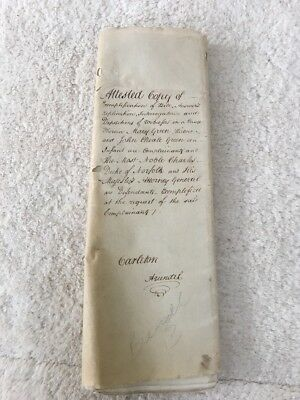 Indenture Antique 1790 21pg Mary Green John Chearle Charles Duke Suffolk Sussex