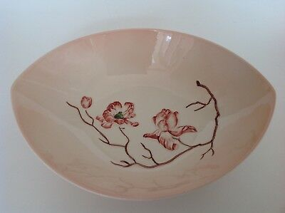 Vintage Carlton Ware Bowl in the Australian design with Pink Magnolia Flowers