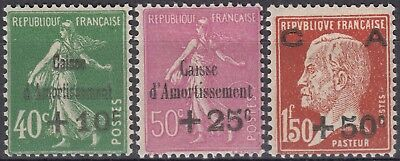 1929 Caisse amortissement Y&T 253 254 255 neuf* MH cote 120€ +$140