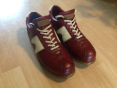 Mens Camper Pelotas Casual Shoes Trainers In Red Leather UK 10 EU 44