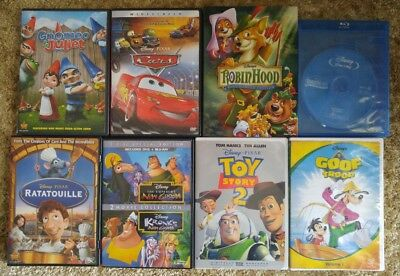 Disney DVD and Blu Ray Lot of 8, Cars, Goof Troop, Toy Story 2 and more!