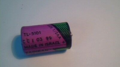 TADIRAN 3.6V half size 1/2 AA LITHIUM BATTERY TL-5101 no LEADS vintage