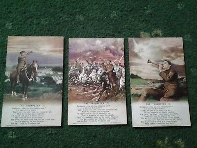 Bamforth Song Postcards The Trumpeter nos 1 2 and3