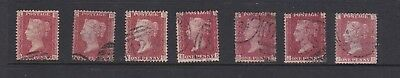 GB Penny Red Stamps LOT 2. QTY 7 used