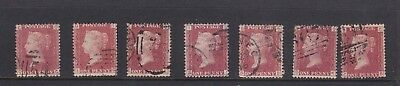 GB penny reds  Victoria Stamps QTY 7 all used. Please see scans. LOT 1