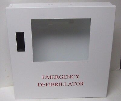 Emergency Aed Steel Wall Cabinet Clean Ready