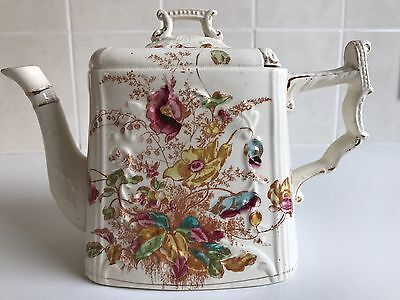 Decorative Victorian Sliding lid Teapot