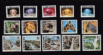 Zimbabwe First Definitive Issue 1980 Stamps MNH set + FDC