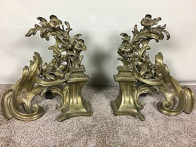 Pair Of French 19Th Century Chenets / Fire Dogs