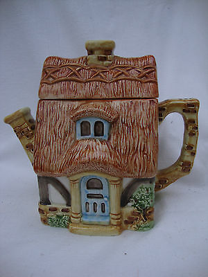 collectable vintage pottery cottage teapot, Pottage by Bob Hersey
