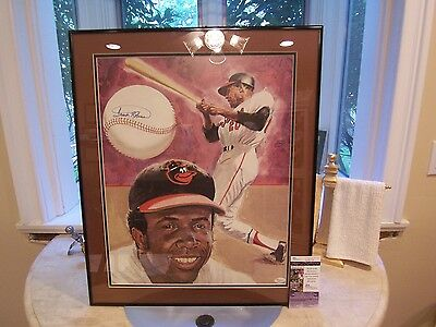 Frank Robinson Signed Lithograph Professionally Framed & Double Matted-Jsa Coa