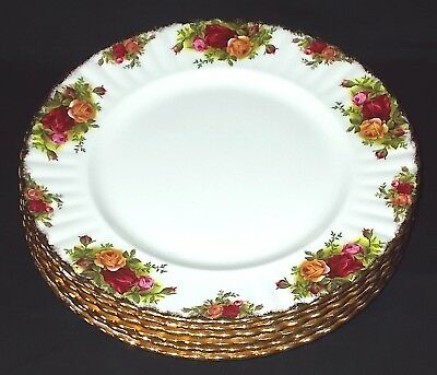 SIX Royal Albert OLD COUNTRY ROSES Dinner Plates - Set 1